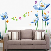 Flowers Butterfly Wall Stickers Cartoon Animals Photo Frames Removable Wall Decals Home Decor PVC Art Mural Baby Boys Girls Kids Bedroom Kitchen Decoration Wall Stickers Posters
