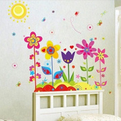 Flowers Butterfly Wall Stickers Cartoon Animals Height Measurement Photo Frames Removable Wall Decals Home Decor PVC Art Mural Baby Boys Girls Kids Bedroom Kitchen Decoration Posters Wall Stickers