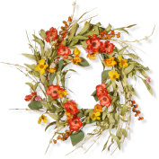 National Tree Company 60cm . Spring Flower Wreath