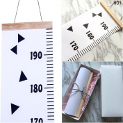 GbaoY Baby Height Growth Chart Wall H Baby Height Growth Chart Wall Hanging Measuring Rulers for Kids Boys Girls Room Decoration Wood Frame Fabric Ruler Removable Height and Growth Chart 20cm x 200cm