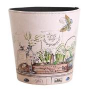 LoKauf Vintage Waste Paper Bin Waste Paper Basket Household Trash Bin Wastebasket 26*26*26cm