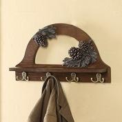 Coat rack hook wooden shelf hooks 4 hooks hanging wall shelf rack