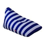squarex Kids Stuffed Plush Toy Storage Bean Bag Soft Pouch Stripe Fabric Chair (D, Size