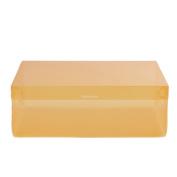 Profusion Circle Ladies Candy Colour Transparent Plastic Shoebox Stackable Shoes Storage Box Drawer Unit