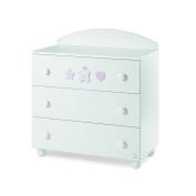 Italbaby Baby Re 3 Drawer Chest, Pink/White