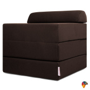 Arketicom Outstanding Pouffe Bed Sleeping Cube, Transform into a Comfortable Bed, Pouffe As Seats, Foldable and Single Mattress 180x60x15 cm - Size (closed)