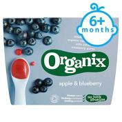 Organix Fruit Puree Apple And Blueberry 4X100