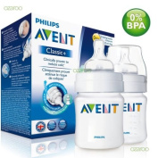 125ml/4oz Pack of 2 Philips AVENT Classic feeding bottles Suitable from 0m+ Bpa free