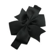 QHGstore Baby Infant Girls Toddler Bow Headband Elastic Hair Bows Newborn Headwear Black