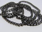 Black Rhodium 10k Gold Diamond Chain Necklace