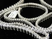 Diamond Chain Necklace in White Gold Finish 90cm