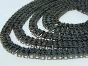 2 Row Black Diamond Fanook Chain Necklace 5CT 90cm