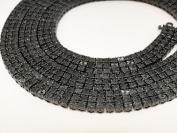 3 Row Fanook Black Diamond Chain Necklace 5.0 CT