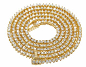 Real Diamond Martini Prong Necklace Chain 10K Yellow Gold 10ct 3MM