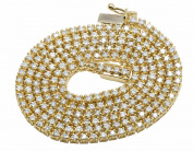10K Yellow Gold Genuine Diamond One Row Prong Chain Necklace 9ct