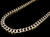 Solid Yellow Gold Diamond Miami Cuban Link Chain Necklace 8MM 30 Inch