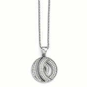 Sterling Silver & CZ Brilliant Embers Circle Necklace