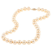 DaVonna 14k Gold Golden FW Pearl 16-inch Necklace
