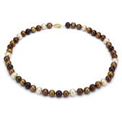 DaVonna 14k Gold Champange FW Pearl 16-inch Necklace