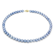DaVonna 14k Gold Blue FW Pearl 16-inch Necklace