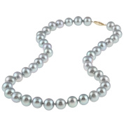 DaVonna 14k Gold Grey FW Pearl 16-inch Necklace