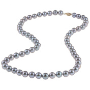 DaVonna 14k Gold Grey FW Pearl 24-inch Necklace