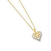 Sterling Silver & Vermeil Diamond Mom Necklace
