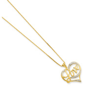 Sterling Silver & Vermeil Diamond Love Necklace
