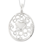 Sending You My Love Sterling Silver Heart Necklace