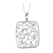Secret of Friendship Sterling Silver Necklace with Cubic Zirconia