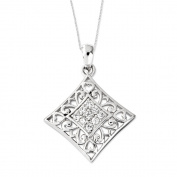 I Love You All Year Long Sterling Silver Necklace with Cubic Zirconia