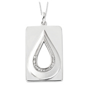 He Will Wipe Away Our Tears Silver Necklace with Cubic Zirconia