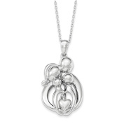 Sterling Silver Family of 4 Gathering 46cm . Necklace