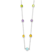 Sterling Silver Multi CZ Extension Necklace