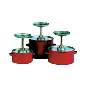 Red Plunger Can, Galvanised Steel, 3.8l Capacity, Dasher Plate Dia. 13cm - 0.6cm