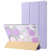 New iPad 2017 iPad 25cm Case, ULAK Ultra Slim Magnetic Auto Wake & Sleep Function Smart Cover Trifold Stand Case with Designer Hard Back Shell for Apple New iPad 25cm 2017 Model