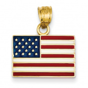 14k Enamelled United States Flag Pendant