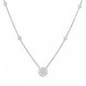 Antwerp Diamonds 14k White Gold ' Cluster' Diamond (3/4 ct) Necklace