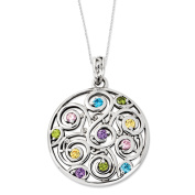 Kaleidoscope of Wishes Sterling Silver Necklace with Cubic Zirconia