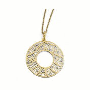 Leslie's Sterling Silver Gold-plated Preciosa Crystal w/5.1cm ext. Necklace