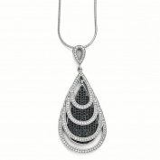 Sterling Silver & CZ Brilliant Embers Teardrop Necklace