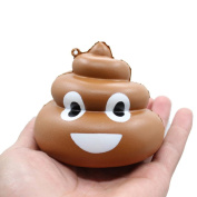 7CM Poo Squishy Toy,Luoluoluo Poo Key Ring Crazy Stool Squeeze Toy Poo Slow Rising Fun Toy . Cure Decor Smiley Face Squishy Toys