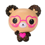 Stress Relief Toys for Kids Adults Slow Rising Squishies Jumbo Mingfa Cute Soft Glasses Bear Squeeze Animal Toy Cure Gift