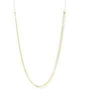 American Designs Jewellery 14kt Yellow Gold Diamond-Cut Multi-Strand Circular Link Necklace, 46cm Chain