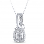 Hold My Hand 1/10 Carat T.W. Diamond Sterling Silver Fashion Pendant, 46cm
