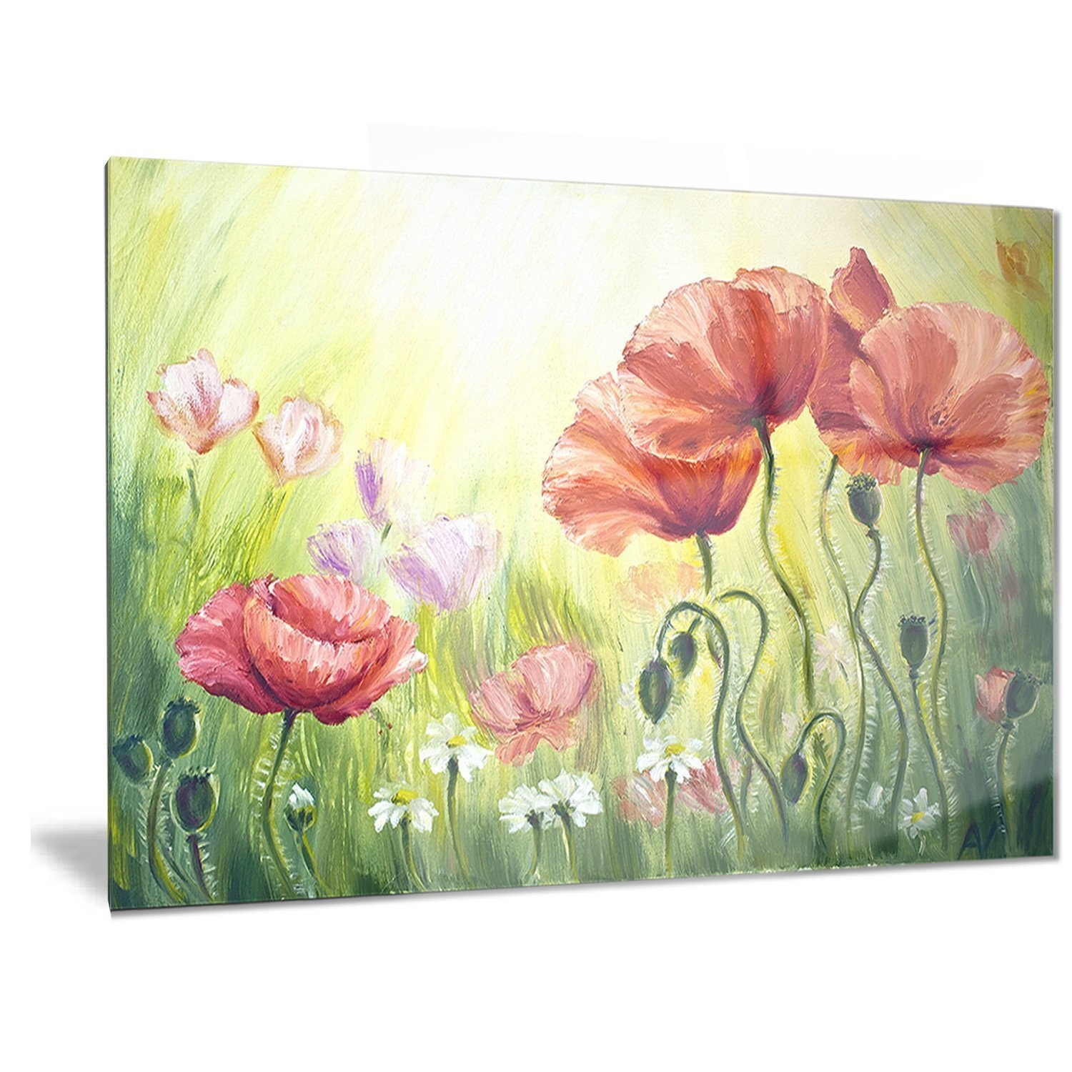 Luxury Poppy Wall Art Metal Sketch - Wall Art Collections ...