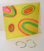 "Deco designpaneele "" Oval "" 45x45x1cm Yellow, Reliev, Fibreglass, incl. 2 aufhängeringen"
