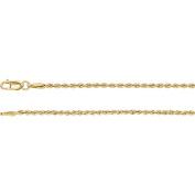"14K Yellow Gold 1.85mm Rope Chain 18"" Chain"