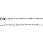 "14K White Gold 1.85mm Rope Chain 18"" Chain"