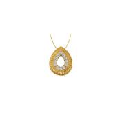 LoveBrightJewelry Diamond Teardrop Pendant in 14K Yellow Gold 0.10 CT TDWPerfect Jewellery Gift for Women